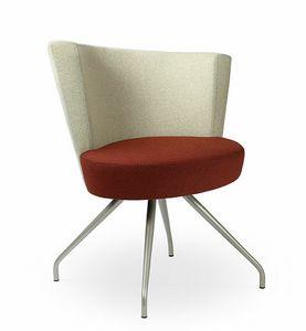 ELIPSE 1F, Lounge-Sessel mit einem großen kreisförmigen Sitz, für den Objektbereich