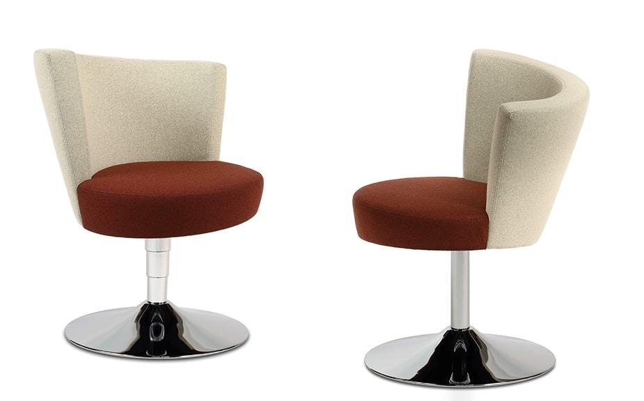 ELIPSE 10, Sessel auf Chromgestell