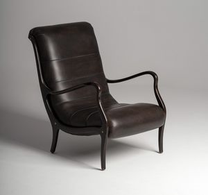 Esse Sessel, Ledersessel mit schlanken Armlehnen