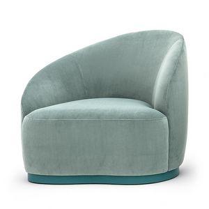 Euforia system 00163DX - 00164SX, Eleganter Sessel für Wohn- und Objektbereiche