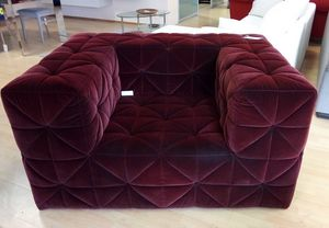 Firenze Sessel, Sessel aus Bordeauxstoff