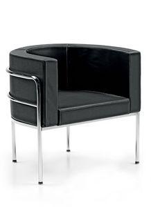 Globe 831, Sessel mit umlaufender Rückenlehne für Warteräume