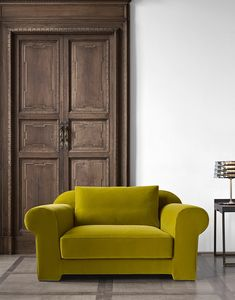 Hypnose Sessel, Sessel mit komplett abnehmbarer Stoffpolsterung