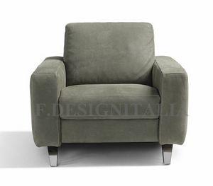 Ingrid, Sessel mit breiten, eckigen Armen
