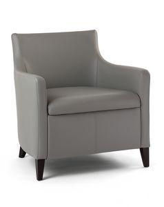 MADEIRA P LOUNGE 1, Sessel mit Holzrahmen gepolstert