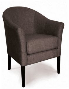 MAIORCA, Runder Sessel mit Samtbezug