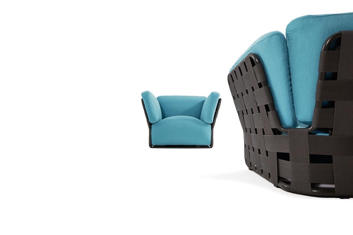 Moderne sessel handgewebte für den außenbereich idfdesign