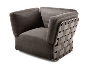 Obi -Sessel, Moderne Sessel, handgewebte, für den Außenbereich
