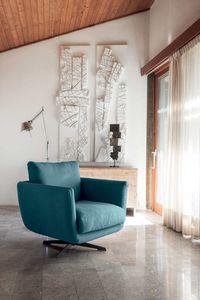 OPERA, Drehbarer Sessel aus Stoff