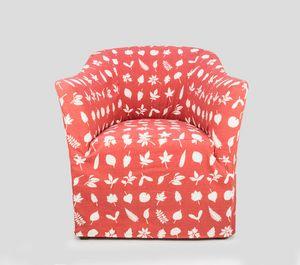 Pompidou, Gepolsterter Sessel mit anpassbarem Stoff