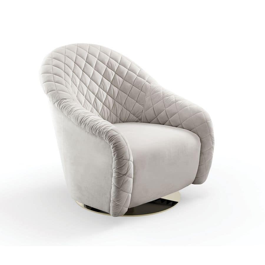 Sessel gepolstert und von hand gesteppt drehsockel for Hand sessel