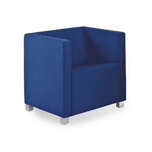 Rex 1P, Sessel mit quadratischem Design, für Wartebereiche