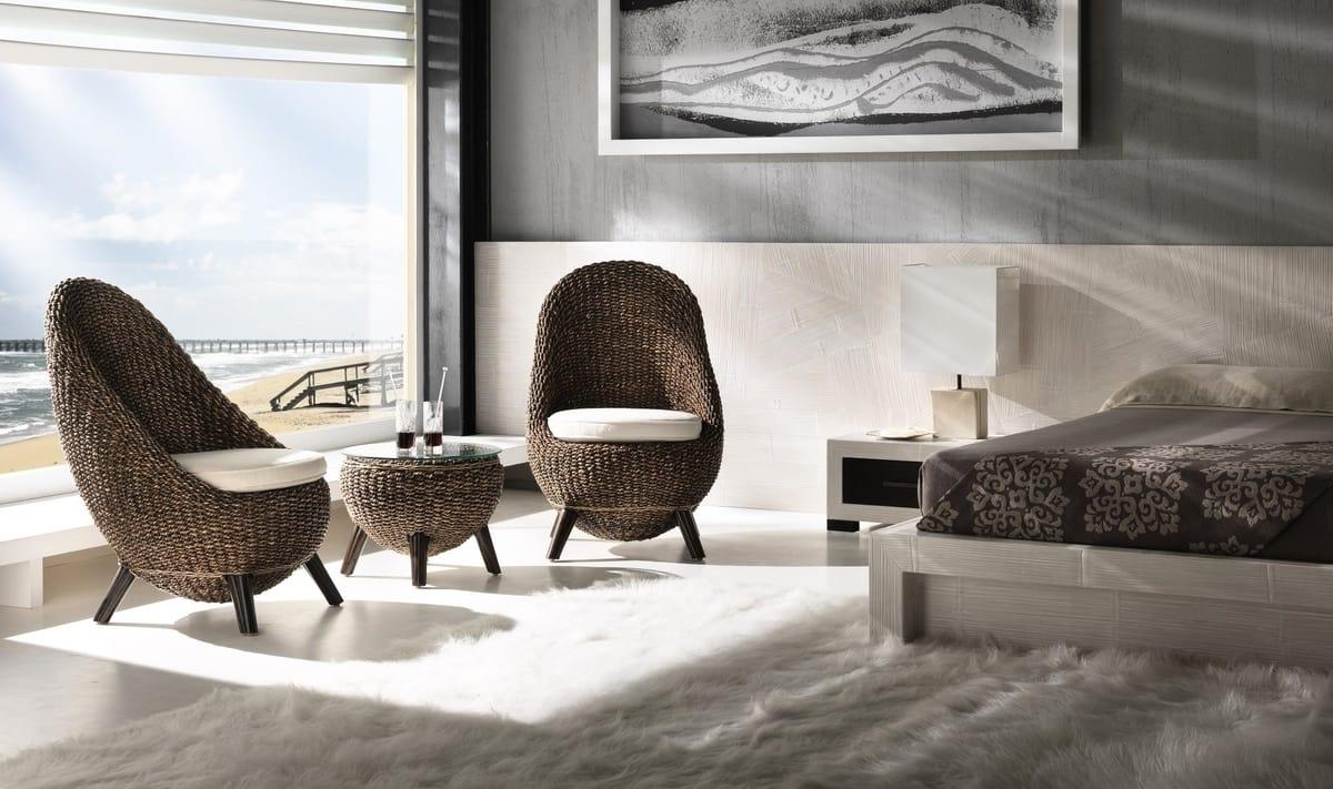 Ethnischer Sessel In Wasserhyazinthe Idfdesign