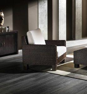 Sessel Verano, Ethnischer Sessel mit gewebter Struktur