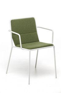 Tres AR, Sessel mit gepolstertem Sitz für Vertrag geeignet