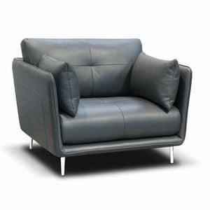 Trevi Sessel, Sessel aus Polyurethan-Schaumstoff, mit Leder bezogen
