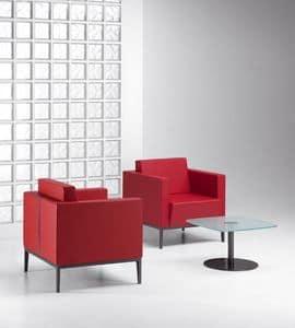 XILON 770, Moderne gepolsterte Sessel ideal für Ruhezonen und Lounges