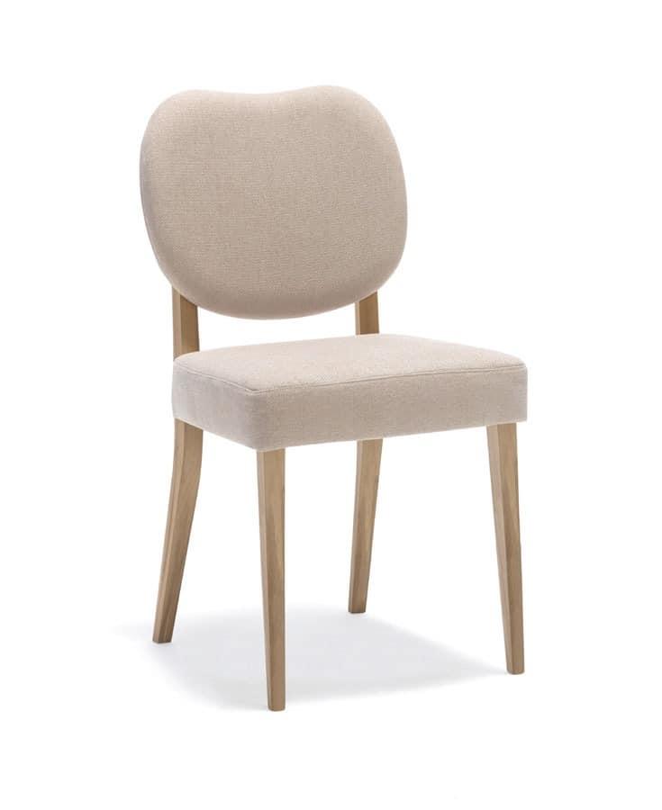 Holz gepolsterter Stuhl für Küche und Esszimmer | IDFdesign