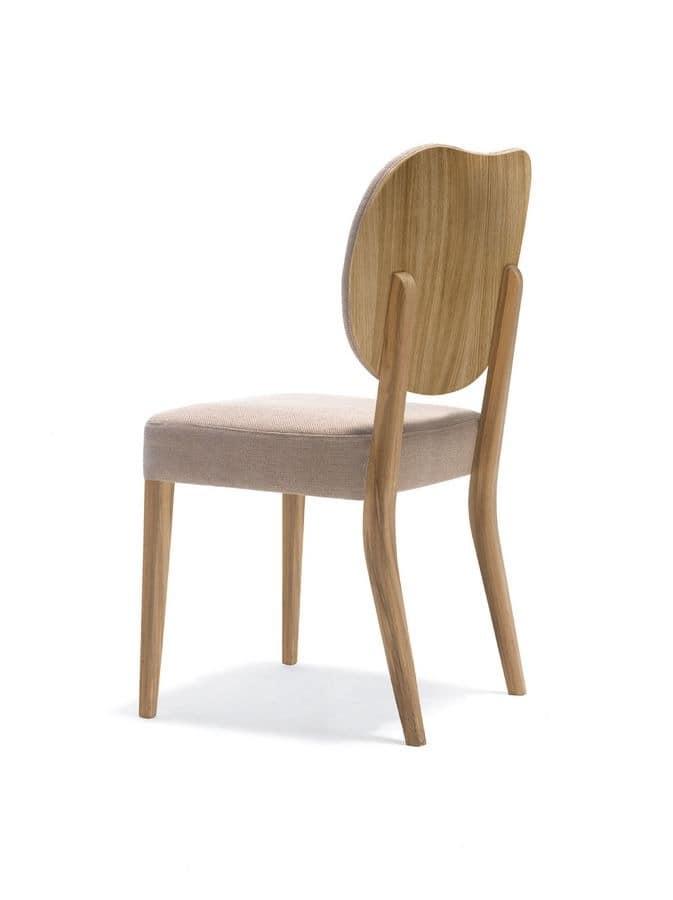 holz gepolsterter stuhl f r k che und esszimmer idfdesign. Black Bedroom Furniture Sets. Home Design Ideas