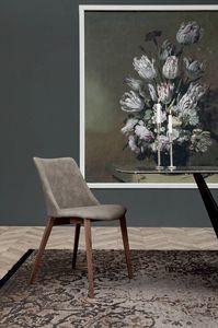 AGATA, Stuhl mit Holz- oder Metallstruktur