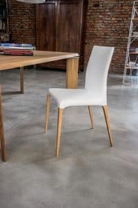 ARAGONA, Moderne Stuhl mit gepolstertem Körper, für Küche und Esszimmer