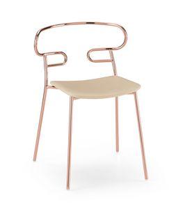 ART. 0047-MET-IM GENOA, Stapelbarer Stuhl mit Metallstruktur