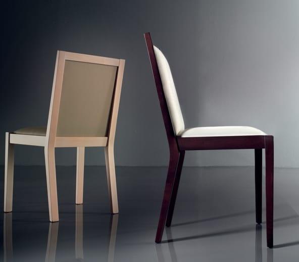 ART. 191 LUNA, Bequemen, gepolsterten Stuhl, in der Buche