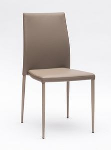Art. 220 Naked, Bequemer, gepolsterter Stuhl mit eleganten Nähten