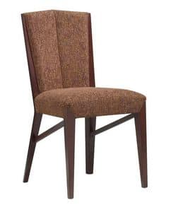 C30, Holzstuhl, gepolsterter Sitz und Rücken, für Vertrags-und Wohnbereich