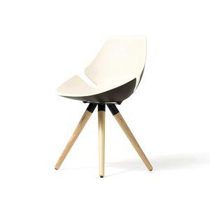 Eon Holzrahmen, Stuhl mit gepolstertem und bunte Schale, für Büro und zu Hause