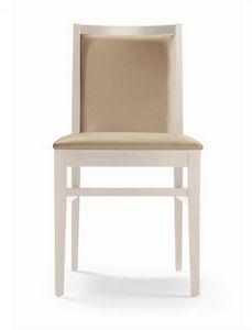 ER 440040, Moderner Holzstuhl mit komfortabler Polsterung