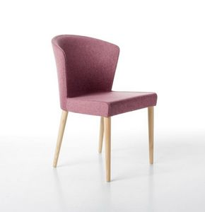 Kontè 4 Beine, Eleganter Stuhl mit Polyurethan-Schaum gepolstert