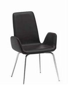 Luce-A, Gepolsterter Stuhl mit Metallfuß