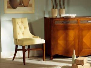 MELODY chair 8198S, Vollpolsterstuhl ohne Armlehnen, gesteppt