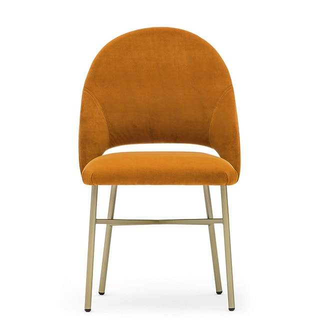 Niky 04715, Stuhl mit Metallgestell, Rückenlehne umhüllend
