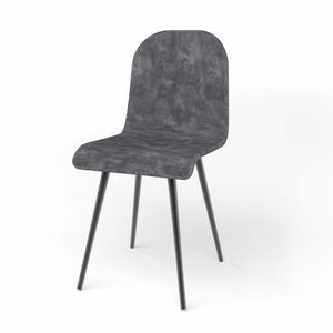 Sally, Gepolsterter Stuhl mit Sitz in verschiedenen Varianten