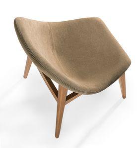 Simo, Gepolsterter Stuhl mit abgerundeten Formen