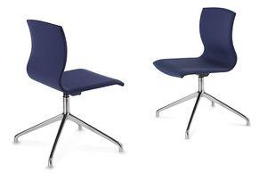 WEBWOOD 368Z, Moderner Stuhl mit Chromgestell