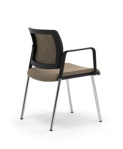Wiki Tech 4G, Metallstuhl mit Armlehnen, mit Rückenlehne