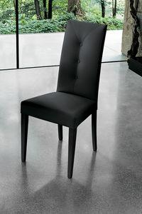 ZURIGO SE503, Moderner Stuhl mit hoher Rückenlehne gepolstert