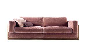 720403 York, Sofa mit Holzrahmen