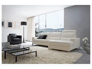 Alex, Elegantes Sofa gepolstert mit Polyurethan, für Stative
