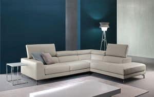 Arena, Ledersofa mit Relax -Mechanismus, für moderne Wohnräume