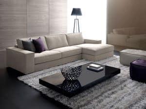Avenue, Modul-Sofa mit Holzrahmen, für elegante Ständer