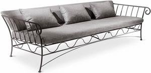 Bahamas new Sofa, 3 -Sitzer-Sofa, Metallstruktur, für moderne Wohnzimmer