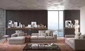 Bruce, Weiches und bequemes modulares Sofa