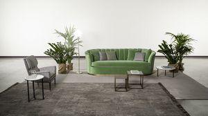 Bruno, Sofa mit abgerundeten Formen