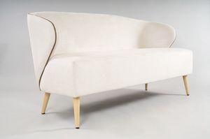 BS468L - Sofa, Kleines Sofa mit umhüllenden Seiten