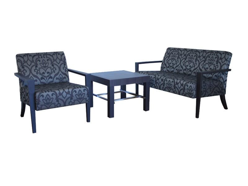 C20, Eleganten Sofa in Buche, gepolstert, in einem modernen Stil