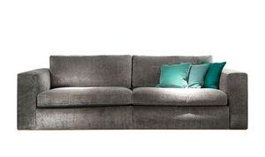 Ciro Sofa, Modernes Sofa mit quadratischen Linien